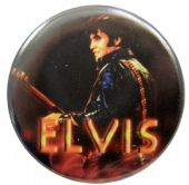Elvis Presley - 'Elvis Stage Dark' Button Badge